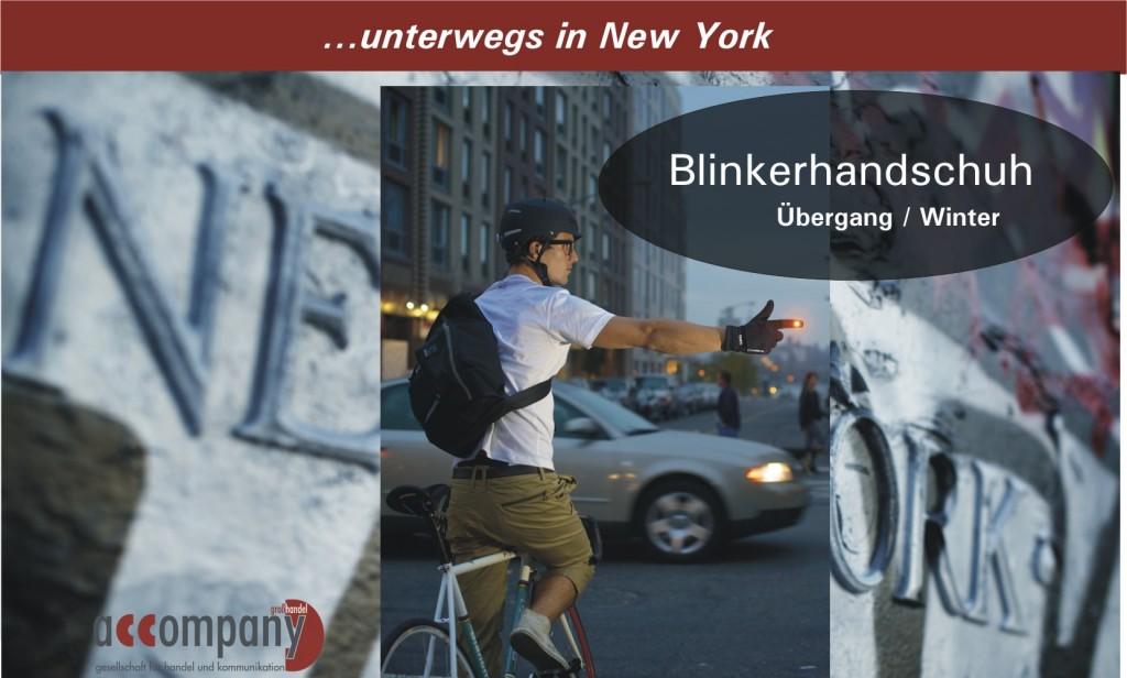Der Blinkerhandschuh erhöht die Sicherheit des Bikers im Straßenverkehr