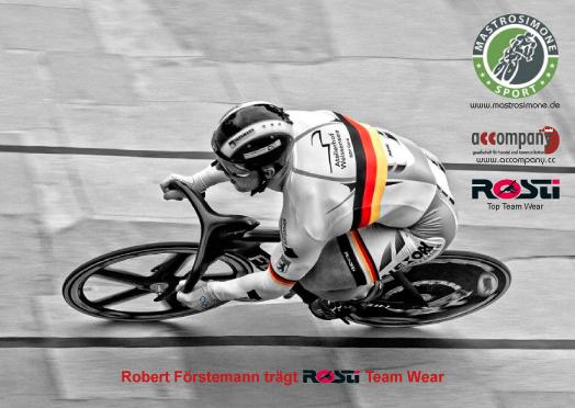 Robert Förstemann fährt mit ROSTI Team-Wear