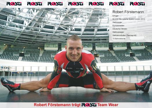 Robert Förstemann trägt ROSTI Team-Wear