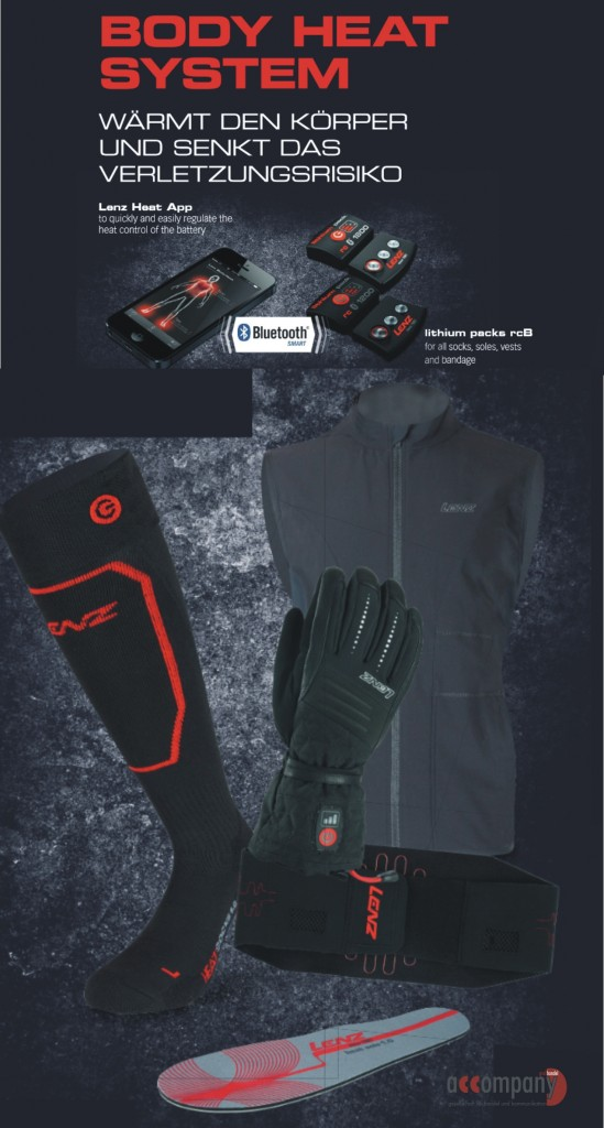 Lenz Body heat System_Heizsocken_weste_Handschuh